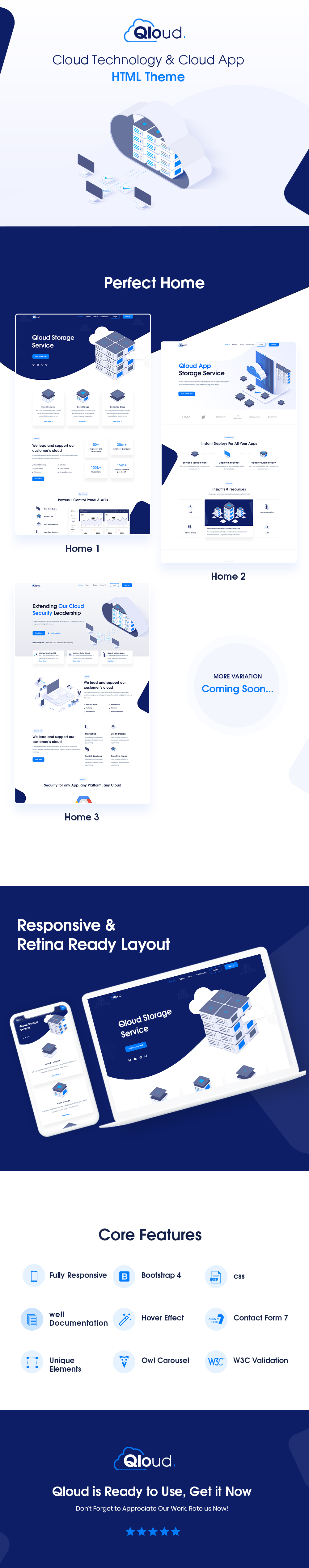WordPress Hosting Theme With Whmcs | Qloud | Iqonic Design cloud computing, apps and server html, whmcs, vue & angular template Qloud live prv